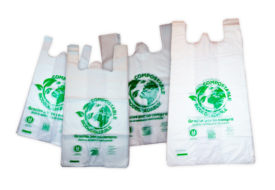 Bolsas camisetas biocompostables